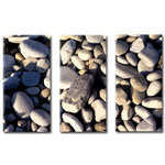 Cornwall Beach Pebbles Picture Canvas Art by Chris Stevens - print