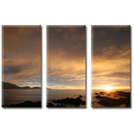 New Zealand Sunset, Triple Canvas Art Picture