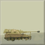 Tank Military, Canvas Art Picture Brown by See More - print