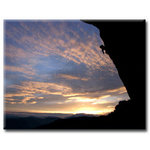 Sky Mountain Climbing Canvas Art Picture by Simon Richardson - print