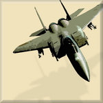 F16 Aeroplane Military, Canvas Art Picture Print by See More - print