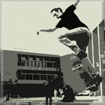Skateboarder Skate Canvas Art Picture by See More - print