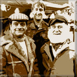 Only Fools and Horses Canvas Art Pictures Brown Print Retro by See More - print