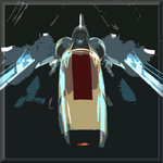 Battlestar Galactica Viper Sci Fi Pop Canvas Art Picture by See More - print