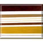 Brown Stripes, Canvas Art Prtint Picture by Ben Hopwood - print