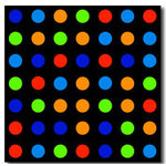 Polka Damien Hirst Wall Canvas Picture by Migg - print