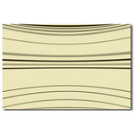 Brown &Cream Stripes, Canvas Art Picture by Migg - print