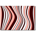 Retro Stripes Red Pink, Canvas Art Picture by Migg - print
