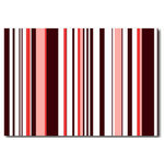 Pink Stripes Vertical, Canvas Art Picture by Migg - print