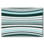 Blue Stripes Flow, Canvas Art Picture