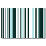 Duck Egg Blue & Dark Blue Stripes, Canvas Art Picture by Migg - print