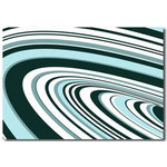 Blue Stripes Wave Canvas Art Picture by Migg - print