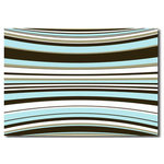 Duck Egg Blue Stripes, Modern Canvas Art Picture
