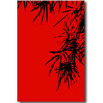 Red Bamboo, Canvas Art Red & Black