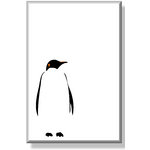 Penguin Black & White Animal Canvas Art Picture by Migg - print