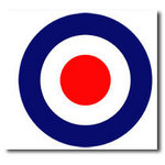 Mod Quad Raf Target Canvas Art Picture by Migg - print