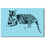 Tiger - Blue Pop Canvas Art Picture