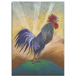 Morning Farmyard Cockrell, Canvas Art Picture