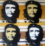 Che Guevara Graffiti Stencil Canvas Picture by Art By People - print