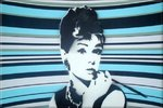 Audrey Hepburn Stencil Canvas Art Picture by Art By People - print