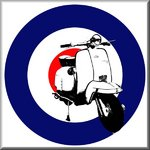 Lambretta Mod Scooter RAF Target Stencil Graffiti on Canvas by Art By People - print