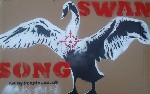 Swan Song Test Stencil Graffiti Art on Cardboard