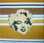 Marilyn Monroe Stencil Canvas Art Picture Brown Retro