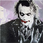 Heath Ledger The Joker Graffiti Stencil Canvas Art Picture by Syd TV - print