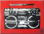 Ghettoblaster Graffiti Stencil Canvas Art Picture by Art By People - print