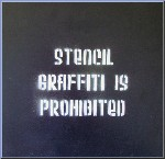 Stencil Graffiti is Prohibited Canvas by Syd TV - print