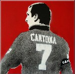 Eric Cantona Manchester United Art Stencil Pictures on Canvas by Art By People - print