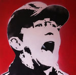 'Sir' Tony Pulis, Stoke Canvas Art Handsprayed Stencil by Art By People - print