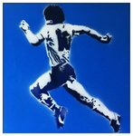 Diego Maradona 86 Argentina Canvas Art Handsprayed Picture by Art By People - print