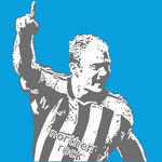 Alan Shearer Newcastle United Handsprayed Canvas Picture by Art By People - print