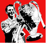Ryan Giggs Manchester United Handsprayed Stencil on Canvas by Art By People - print