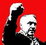 Bill Shankly Liverpool Handsprayed Canvas Picture by Art By People - print