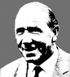 Matt Busby Manchester United Handsprayed Canvas Picture by Art By People - print