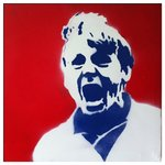 Stuart Pearce Nottingham Forest Handsprayed Canvas Picture by Art By People - print