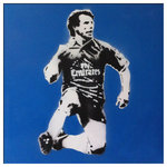 Gianfranco Zola Chelsea Handsprayed Canvas Stencil Picture by Art By People - print
