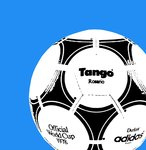 Tango Football 1978 Handsprayed Canvas Iconic Artwork by Art By People - print