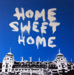Wembley Stadium Retro Handsprayed Canvas Art Picture by Art By People - print