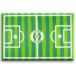Life's a Pitch, Football Green Canvas Art by Luke Hollingworth - print