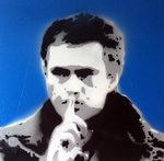 Jose Mourinho Chelsea Handsprayed Stencil Canvas Picture by Art By People - print