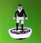 Subboteo Retro Football Handsprayed Artwork by Art By People - print