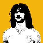 Ruud Gullit Holland Handsprayed Canvas Stencil by Art By People - print