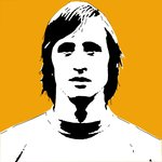 Johan Cruyff Holland Handsprayed Football Canvas Art Picture by Art By People - print