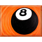 Pool 8 Ball Sports Canvas Art Picture by Luke Hollingworth - print