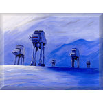 Star Wars At Ats Canvas Art Picture by Luke Hollingworth - print