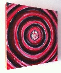 Red Black Swirl Painting Original Acrylic on Canvas by Art By People - print