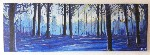Frosty Forest Original Art - Acrylic on Canvas by Luke Hollingworth - print